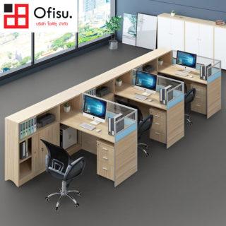 โต๊ะทำงานกลุ่ม โต๊ะทำงานโมเดิร์น จัดเซตวางได้หลายแบบ  SKU : 10120X