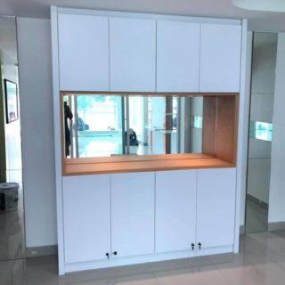บิ้วอินตู้ โทน สีขาว – ส้ม SKU: 99040