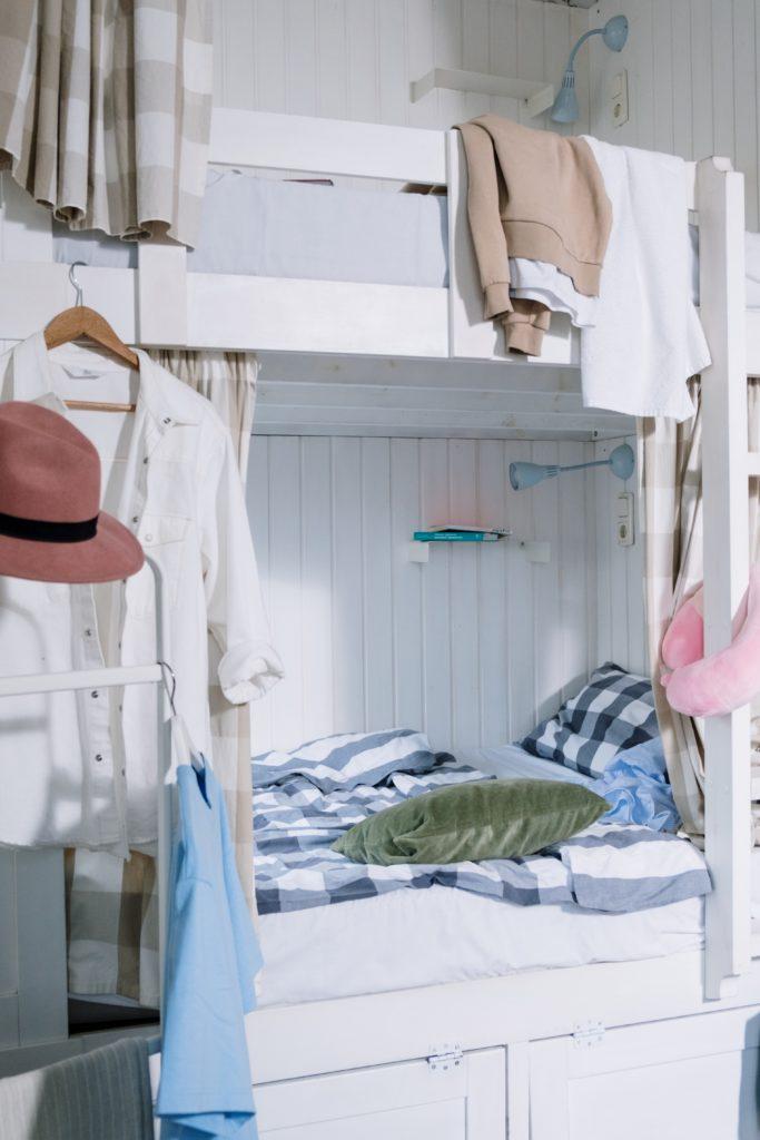 เตียงอเนกประสงค์ 2 ชั้น สีขาว