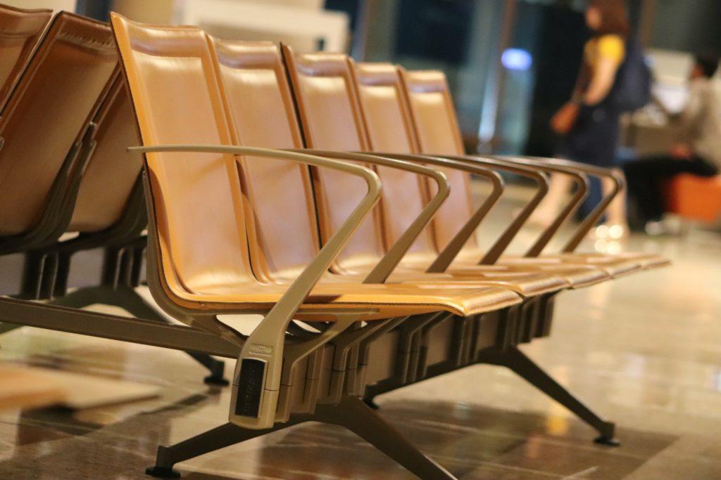 เก้าอี้สาธารณะ 1-4 ที่นั่ง สีส้ม