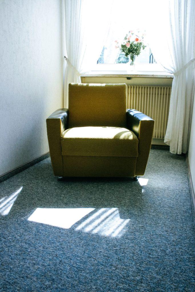 โซฟา 1 ที่นั่ง สีเหลื่อง