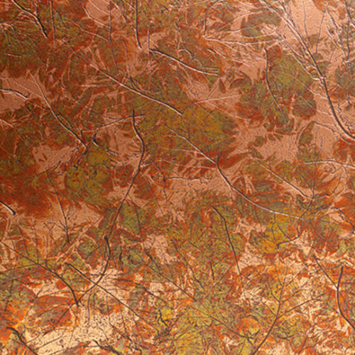 พื้นผิวและวัสดุ D2113-Copper-Maple-Leaves