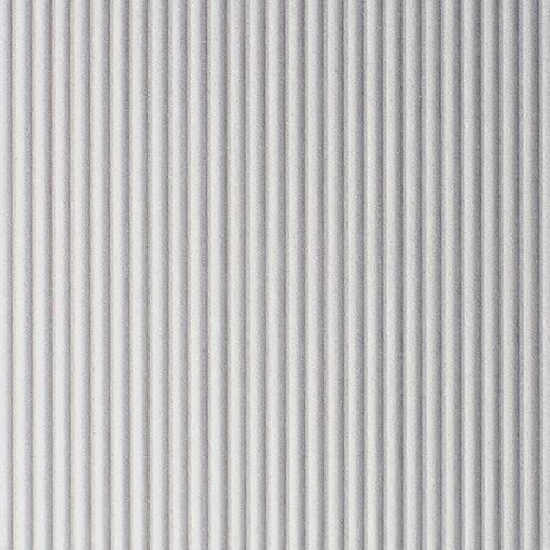 พื้นผิวและวัสดุ D8032 Vertical Corrugated Matte Aluminium